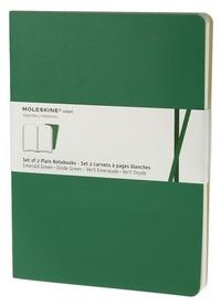 Volant zápisníky 2 ks, čistý, smaragdový XL