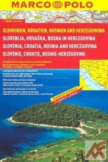 Slovinsko-Chorvatsko-Bosna a Hercegovina - atlas
