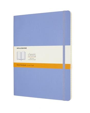 Zápisník Moleskine měkký linkovaný světle modrý XL