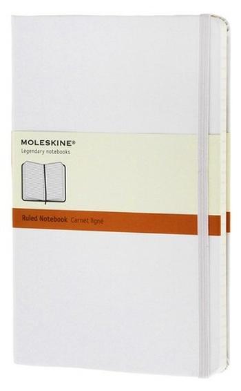 Zápisník, linkovaný, bílý L