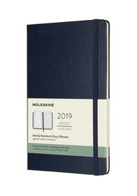 Plánovací zápisník Moleskine 2019 tvrdý modrý L