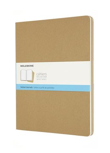 Sešity Moleskine 3 ks tečkované karton XXL