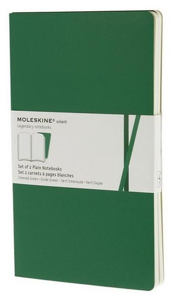 Volant zápisníky 2 ks, čistý, smaragdový L