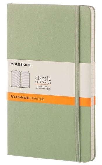 Zápisník tvrdý linkovaný zelený L