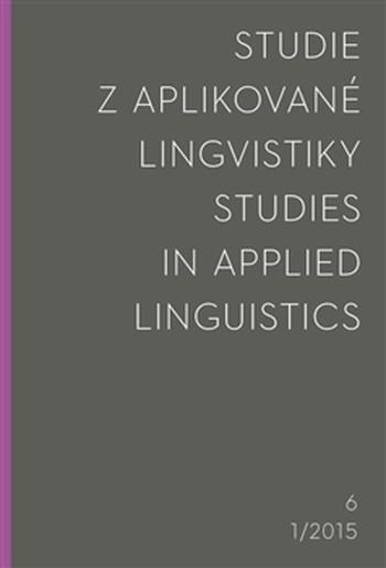 Studie z aplikované lingvistiky 1/2015