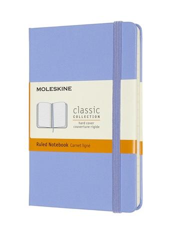 Zápisník Moleskine tvrdý linkovaný světle modrý S