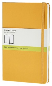 Zápisník, čistý, žlutooranžový L