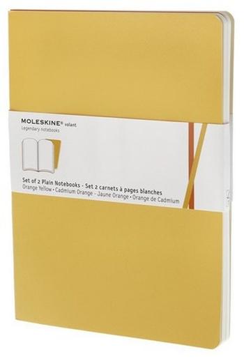 Volant zápisníky 2 ks, čistý, žlutooranžový XL