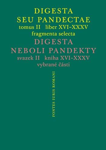 Digesta seu Pandectae II / Digesta neboli Pandekty II