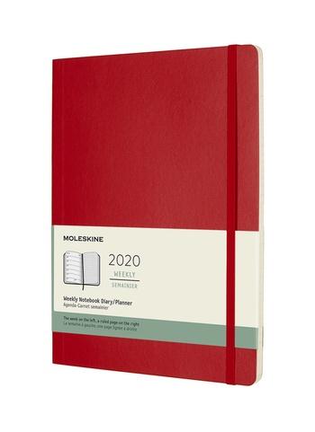 Plánovací zápisník Moleskine 2020 měkký červený XL