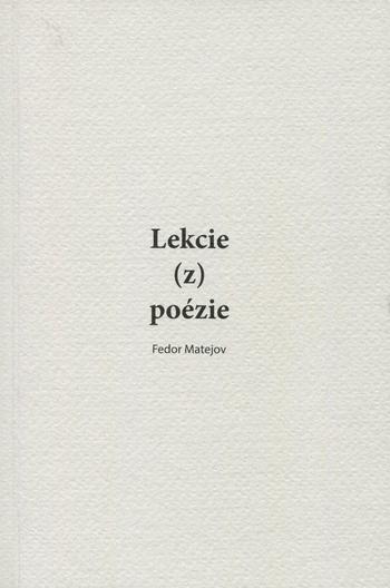 Lekcie (z) poézie