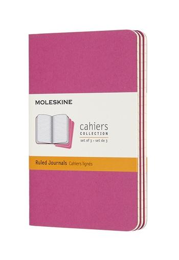 Sešity Moleskine 3 ks linkované růžové S