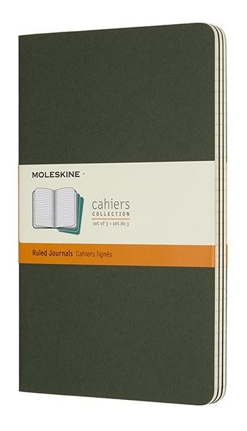 Sešity Moleskine 3 ks linkované zelené L