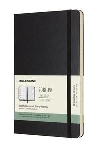 Plánovací zápisník 2018-2019 tvrdý černý L