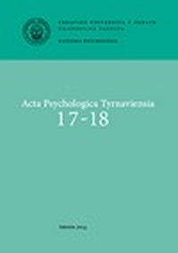 Acta Psychologica Tyrnaviensia 17-18