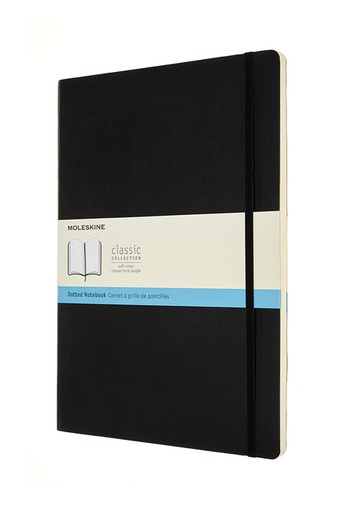Zápisník Moleskine měkký tečkovaný černý A4