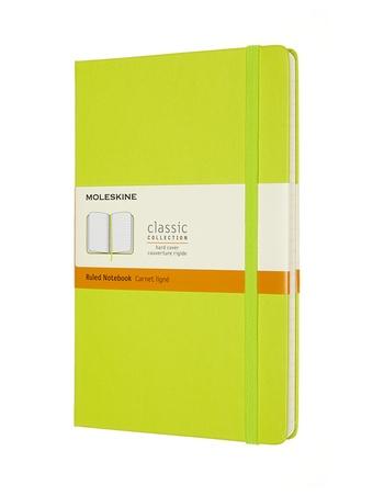 Zápisník Moleskine tvrdý linkovaný žlutozelený L