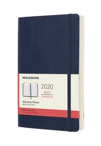Diář Moleskine 2020 denní měkký modrý L