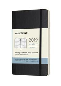Měsíční diář Moleskine 2019 měkký S