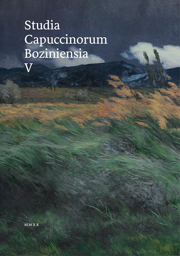 Studia Capuccinorum Boziniensia V
