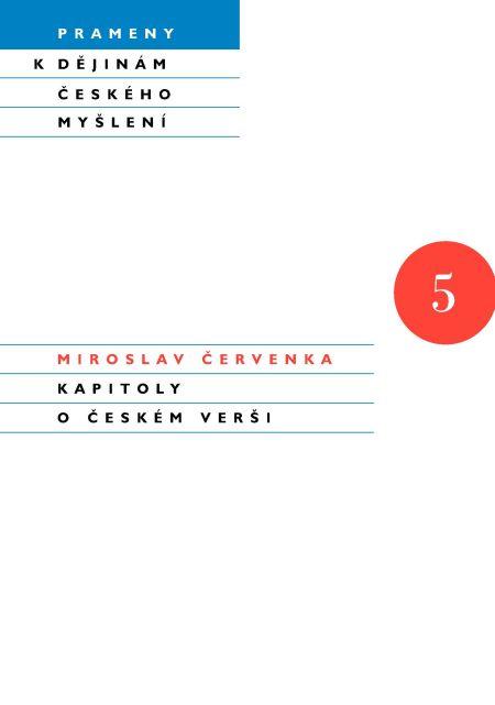 Kapitoly o českém verši