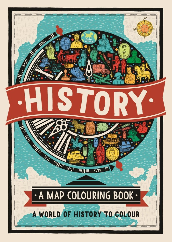 History. A Map Colouring Book