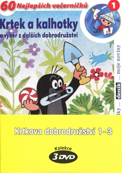 Krtkova dobrodružství 1-3 - 3 DVD